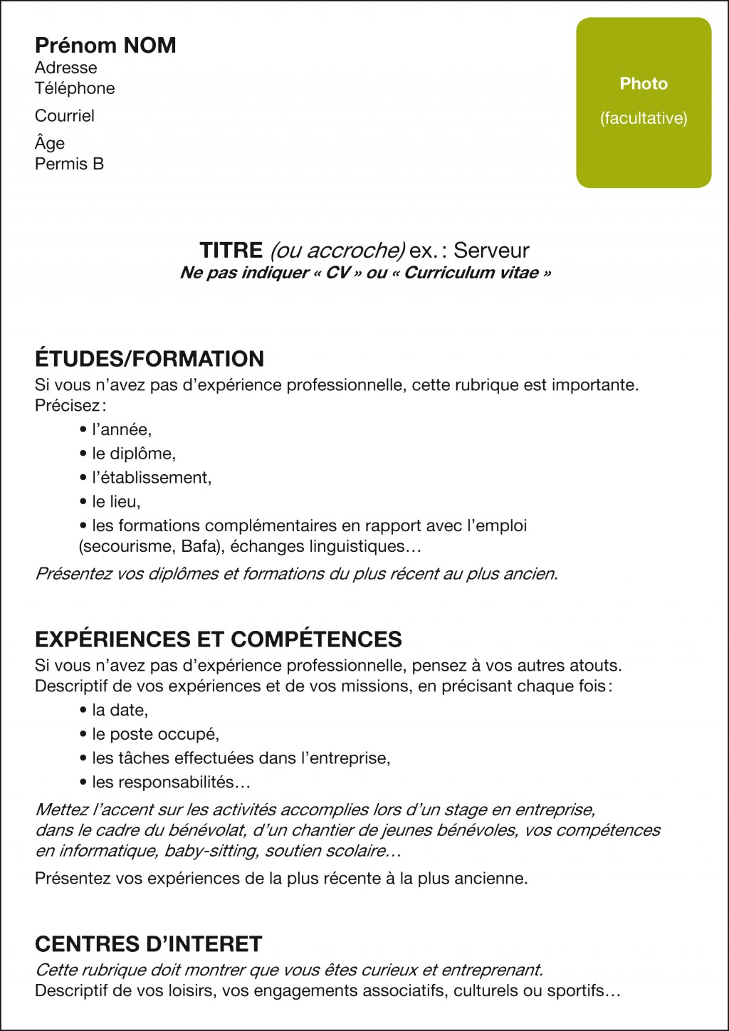 ebook  cv bafa stage pratique