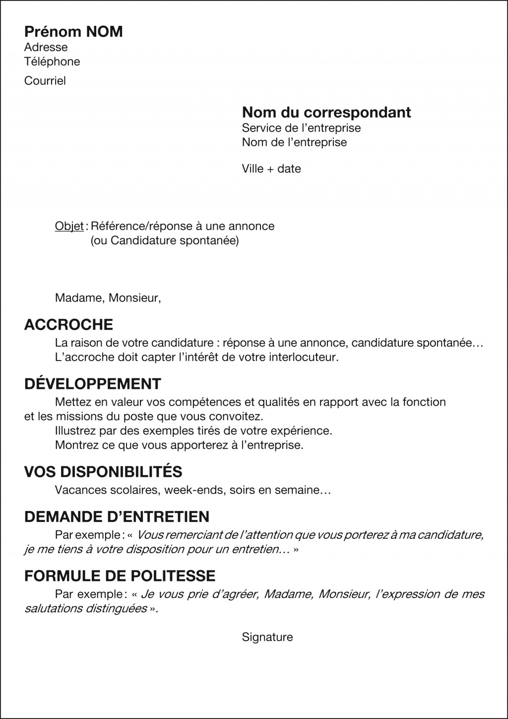 lettre de motivation employe station service