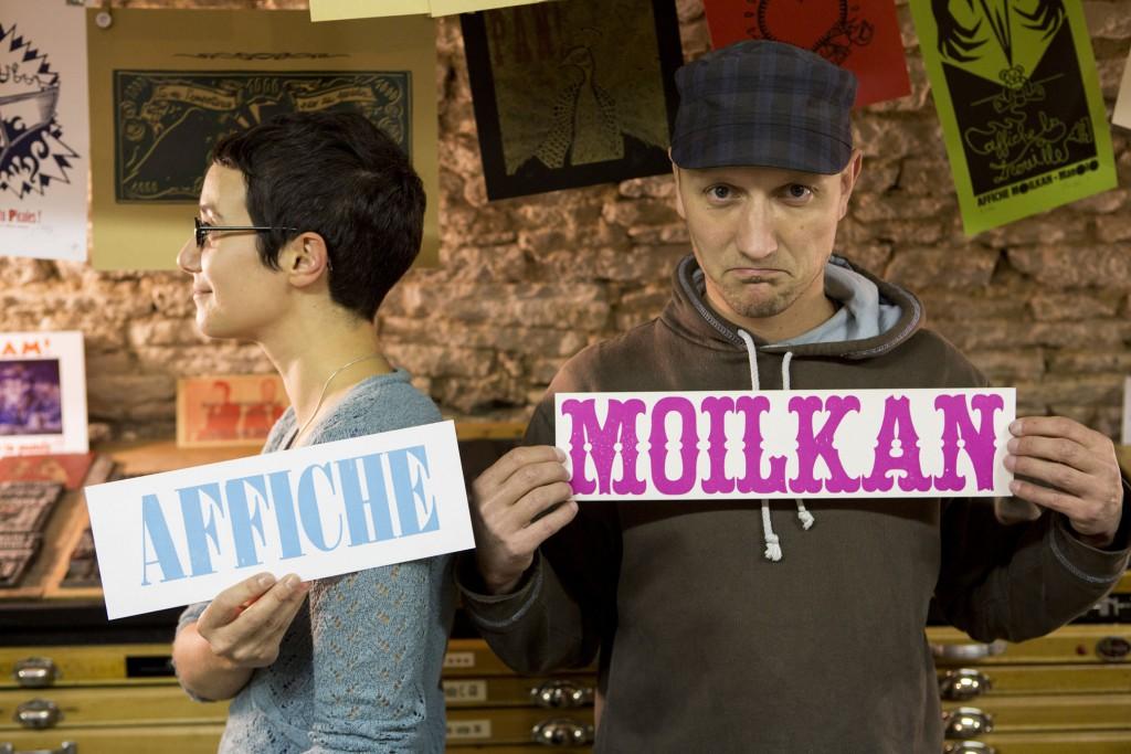 Affiche Moilkan article affiche moilkan, l'impression à l'ancienne | topo